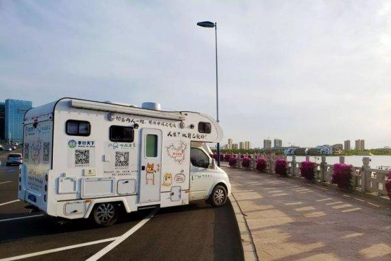 房车中国边境游,滨州会友驻车在唐海停车场